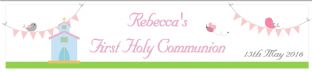 Personalised Girl First Communion Banner Design 1